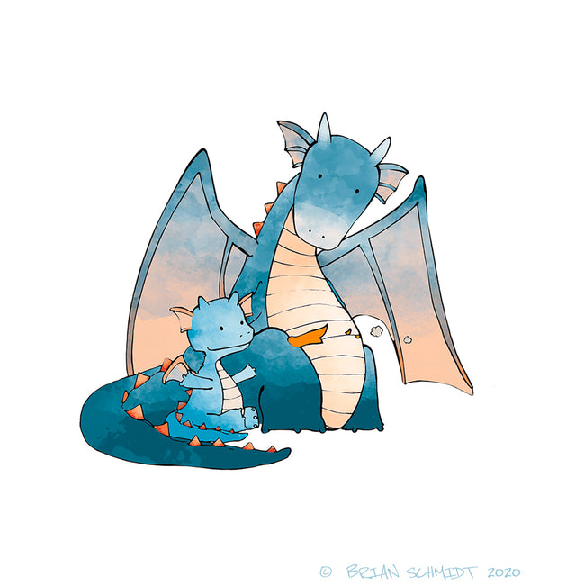 Blue Dragon and Baby Dragon