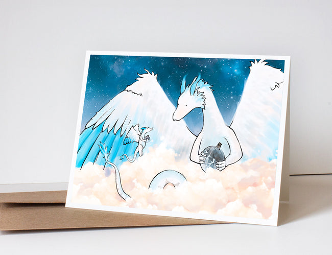 Dragon and Baby Dragon Greeting Card