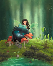 Fairy Art Print - Galaxy Jar