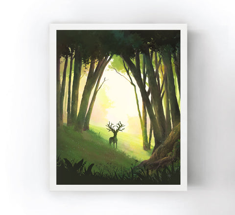 Magical Elk Art Print