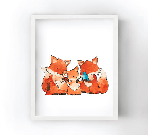 Fox Family Art Print