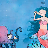 Mermaid Art Print - Chatting with Octopus