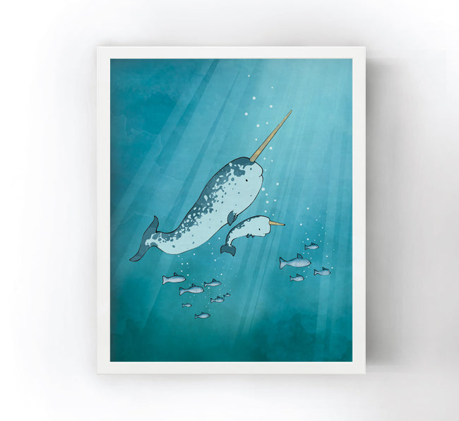 Narwhal Art Print - Baby Narwhal