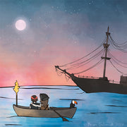 Pirates Art Print - Moon Gazing