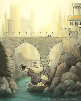 Troll Art Print - Fishing in the Kingdom River