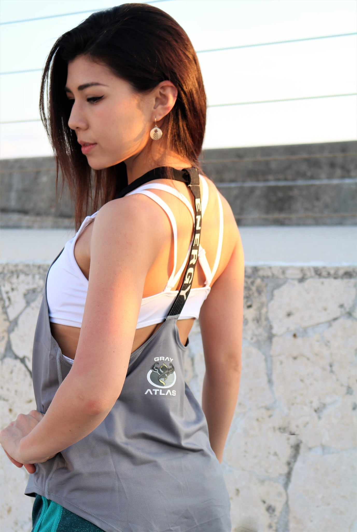 Fit Life Loose Fit Tank Top - Grey