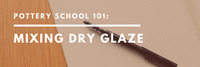 Mixing dry glaze at home with simple kitchen tools!