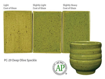 PC-29 Deep Olive Speckle Glaze by Amaco - Amaranth Stoneware Canada