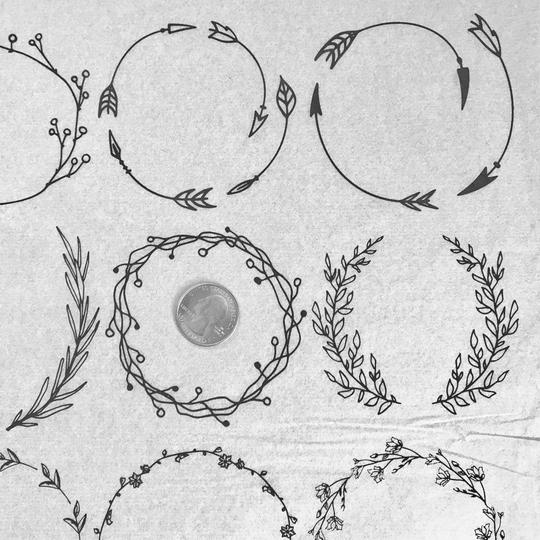 Floral Wreaths - Underglaze Transfer Sheet by Elan Pottery