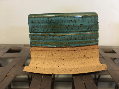 Antique Jade Glaze on Speckled Buff Clay