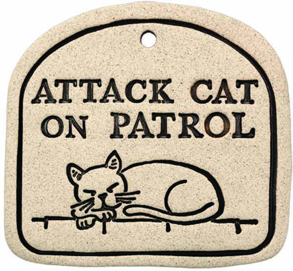 Attack Cat On Patrol - Amaranth Stoneware Canada