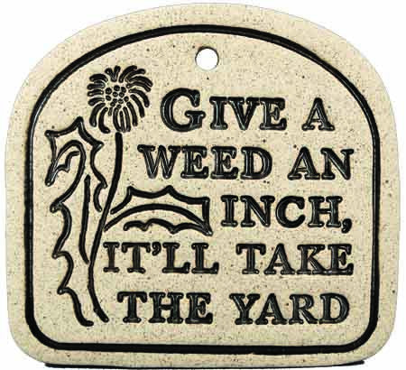 Give A Weed An Inch, It'll Take The Yard - Amaranth Stoneware Canada