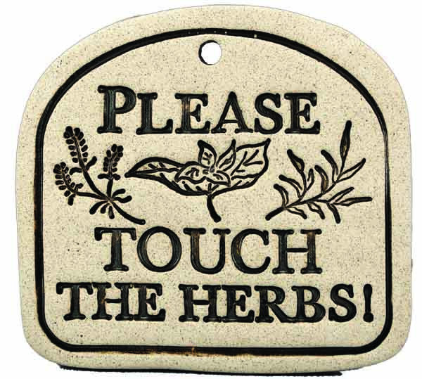 Please Touch The Herbs! - Amaranth Stoneware Canada