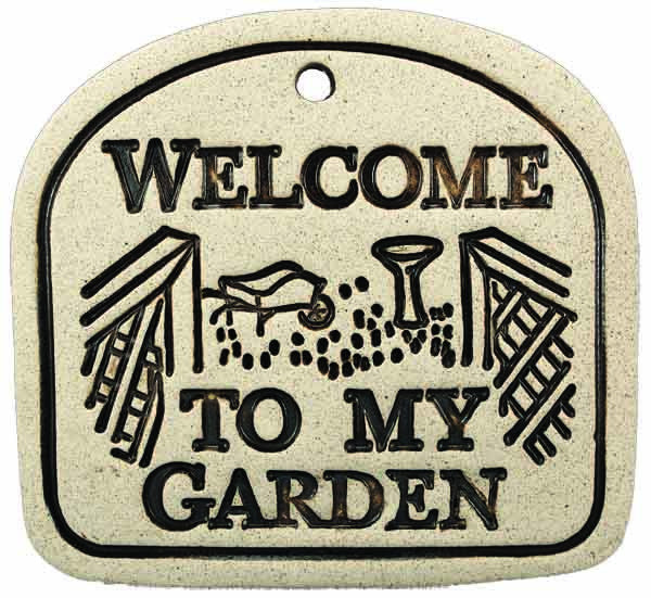 Welcome To My Garden - Amaranth Stoneware Canada