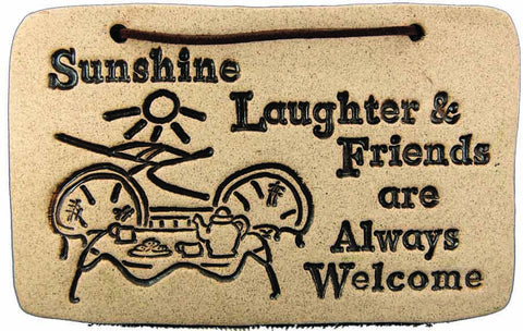 Sunshine, Laughter & Friends are always Welcome - Amaranth Stoneware Canada