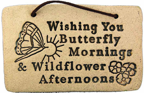 Wishing You Butterfly Mornings & Wildflower Afternoons - Amaranth Stoneware Canada