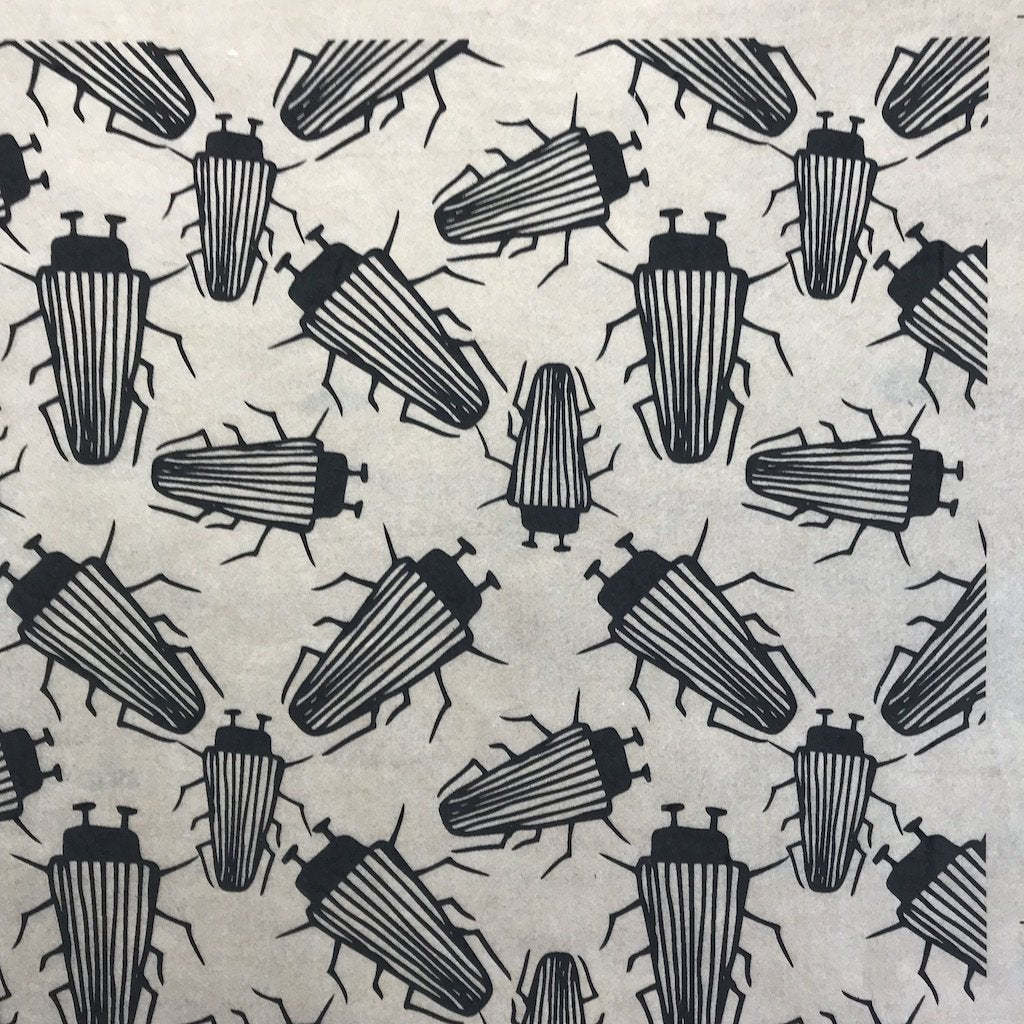 Beetles - Underglaze Transfer Sheet by Elan Pottery