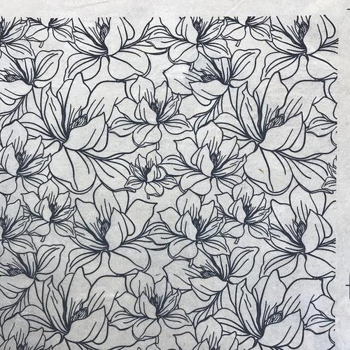 Magnolia - Underglaze Transfer Sheet by Elan Pottery