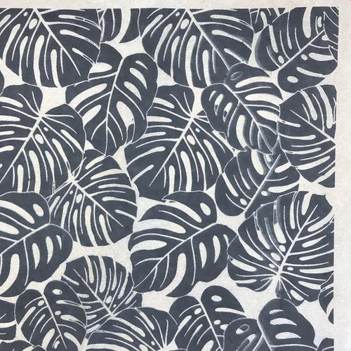 Monstera Leaves - Underglaze Transfer Sheet by Elan Pottery