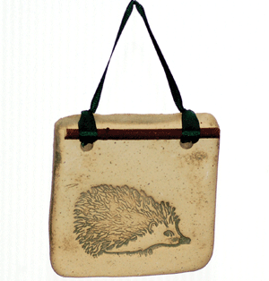 Small Botanical - Hedgehog - Amaranth Stoneware Canada