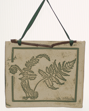 Large Botanicals - Fern for Spring - Amaranth Stoneware Canada