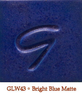 Bright Blue Matte Glaze by Georgies - Amaranth Stoneware Canada