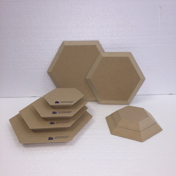 Hexagon Wood Drape Mold by GR Pottery Forms