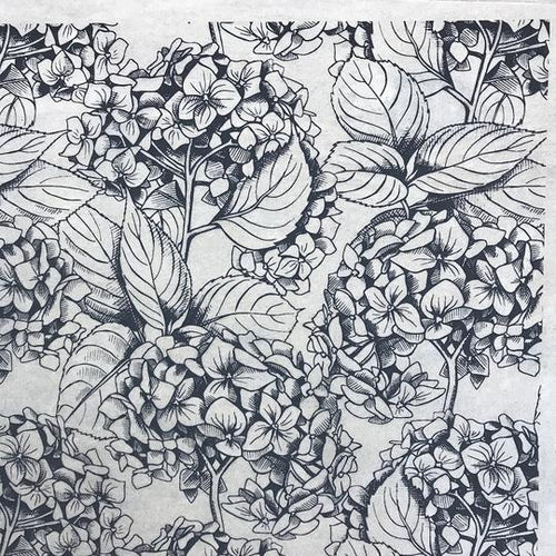 Hydrangae - Underglaze Transfer Sheet by Elan Pottery