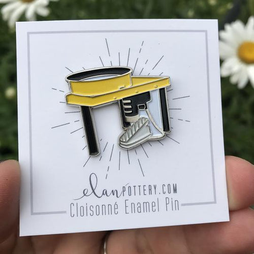 Potter's Wheel Enamel Pin