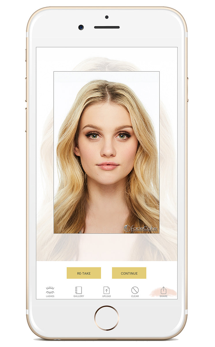Battington Beauty App Lash try on preview