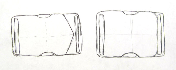 Early Sketches of Side Release Buckle Designs