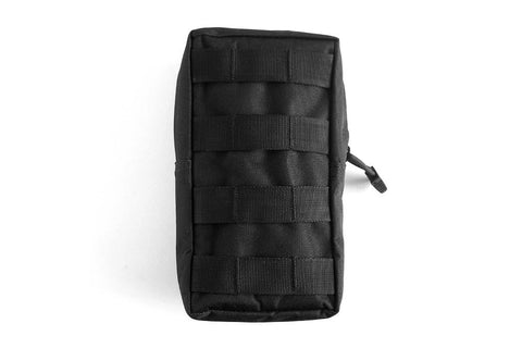 Vertical MOLLE Pouch, Black - Front