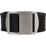Battler Black Nylon Elastic Belt with Metal Buckle - Rolled Side
