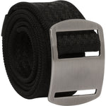 Battler Black Nylon Elastic Belt with Metal Buckle - Rolled Angle