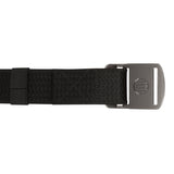 Battler Black Nylon Elastic Belt with Metal Buckle - Flat Back