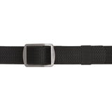 Battler Black Nylon Elastic Belt with Metal Buckle - Flat Fastened