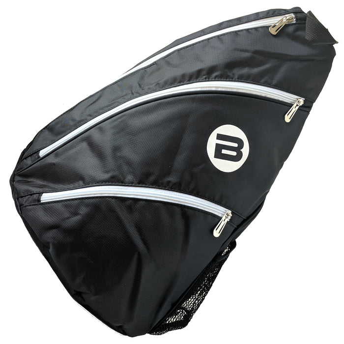 BESTA Pickleball Sling Bag - Black & White - Front