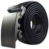 Black Ratchet Belt with Automatic Buckle - Rolled Angle