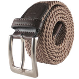 BESTA Men's Braided Stretch Belt Brown - Rolled
