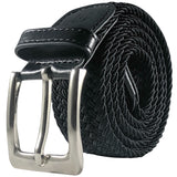 BESTA Men's Braided Stretch Belt Black - Rolled
