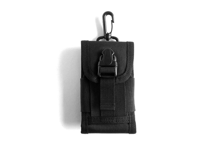 Cell Phone Holster, Black - Front