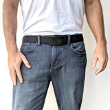 BESTA Black Stretch Belt, Mens - Pose 1