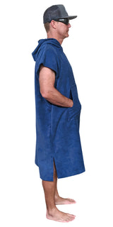 Blue Changing Poncho - Side
