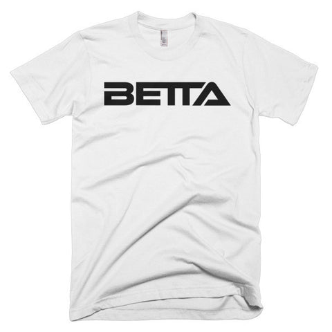 BETTA Men's Short Sleeve T-shirt, Black Logo