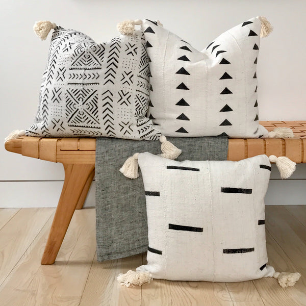 Mud cloth Throw Pillows