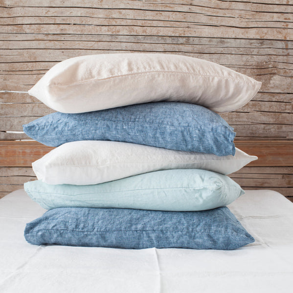 Solid Linen Pillowcases (sold in pairs)