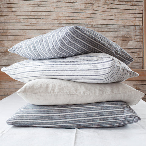 Striped Linen Pillowcases (sold in pairs)