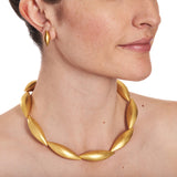 Yellow Gold Cocoon Collier~10 Pods