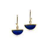 Half Moon Lapis Earrings