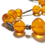Liquid Amber Bead Necklace